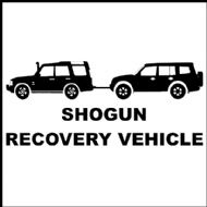 Shogun Recovery Vehicle Funny Decal/Sticker
